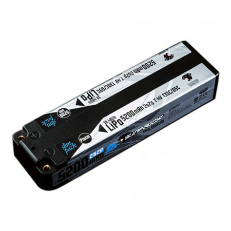 Li-Po Batteri 2S 7,4V 5200mAh 130C Slim Mid Platin
