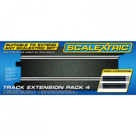 Scalextric Track Extension Pack 4 (4xC8205)