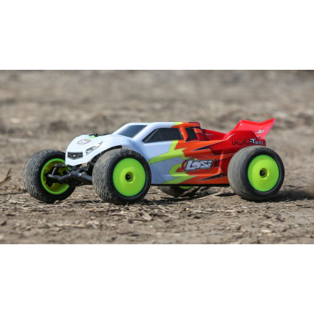 1/18 Mini-T 2.0 2WD Stadium Truck Brushed RTR, Red/White
