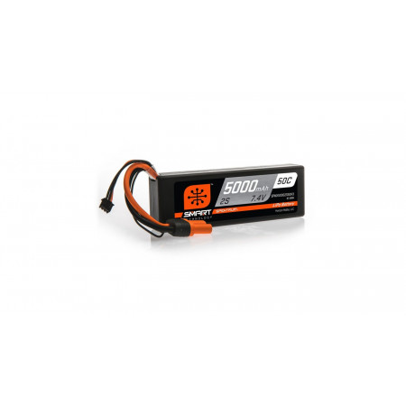 7.4V 5000mAh 2S 50C Smart Hardcase LiPo Battery: IC3