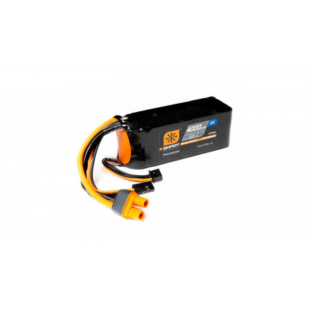 7.4V 4000mAh 2S 15C Smart LiPo Receiver Battery: Universal Receiver, IC3