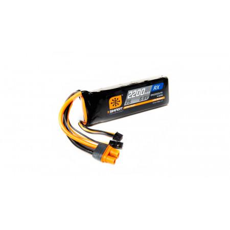 6.6V 2200mAh 2S 15C Smart LiFe Receiver Battery: Universal Receiver, IC3