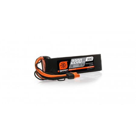 11.1V 2200mAh 3S 50C Smart LiPo Battery: IC3