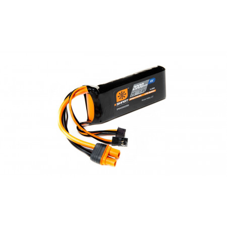 7.4V 2000mAh 2S 15C Smart LiPo Receiver Battery: Universal Receiver, IC3