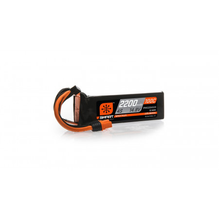 14.8V 2200mAh 4S 100C Smart LiPo Battery: IC3