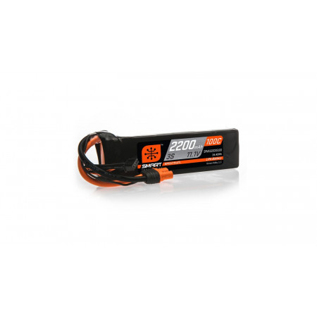 11.1V 2200mAh 3S 100C Smart LiPo Battery: IC3