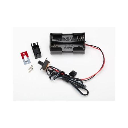 Batterihållare 4AA med Strömbrytare