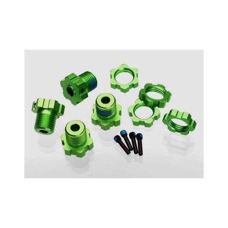 Hjulnav & Mutter 17mm Aluminium Grön (4)