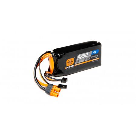 9.9V 3200mAh 3S 15C Smart LiFe ECU Battery: Universal Receiver, IC3