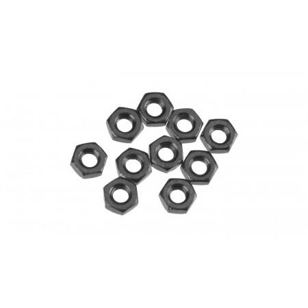 Thin Hex Nut M3 Black (10)