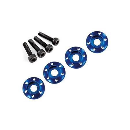 Hjulskruv M3x12 Alu Blå (4)
