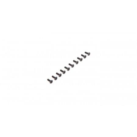 Flat Head Screws M2.5 x 8mm (10)