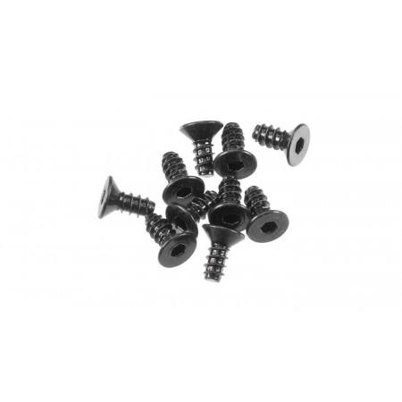 Hex Socket Tapping Flat Head M2.6x6mm Black (10)