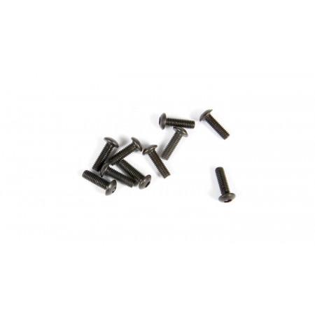 Hex Socket Button Head M2.6x8mm, Black (10)