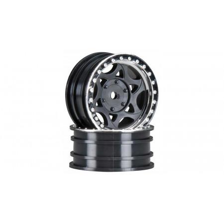 1/10 Walker Evans Street 1.9 Wheels, 12mm Hex, Black Chrome (2)