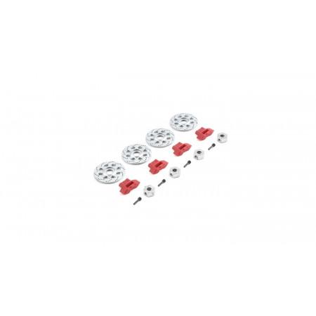 Hex Rotor Caliper and Pin Set (4): Baja Rey