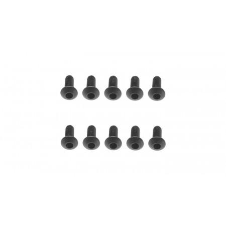 M2.6x6mm Hex Socket Button Black (10)