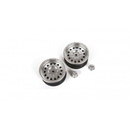 1/10 Method MR307 Hole 1.9 Wheels, 12mm Hex, Satin Silver (2)