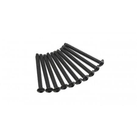 Hex Tap Button Head M3x30mm Black (10)