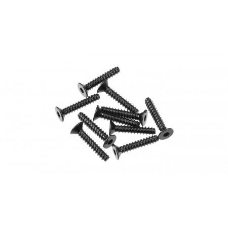 Hex Socket Tapping Flat Head M3x16mm Black (10)