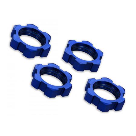Hjulmutter 17mm Aluminium Blå (4)