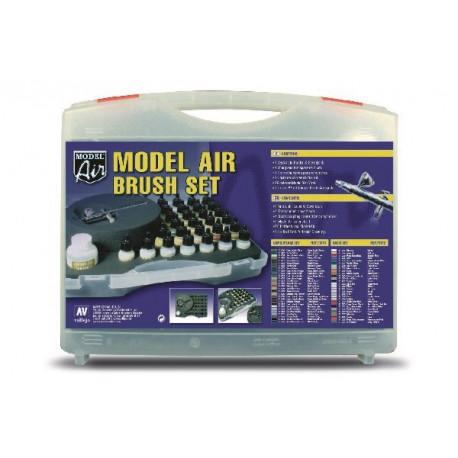 MODEL AIRBRUSH SET, CAMOUFLAGE (29) + AIRBRUSH