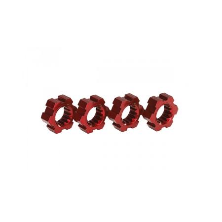 Fälgnav Röd Aluminium (4)