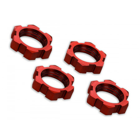 Hjulmutter 17mm Aluminium Röd (4)