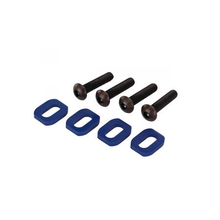 Brickor motorfäste Alu. Blå med skruv (4)