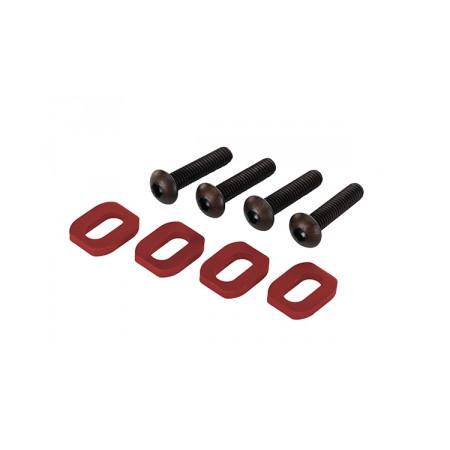 Brickor motorfäste Alu Röd med skruv (4)