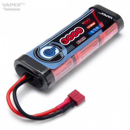 Vapex NiMH Batteri 7,2V 3000mAh T-kontakt