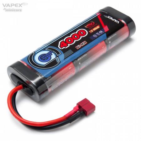 Vapex NiMH Batteri 7,2V 4000mAh T-kontakt