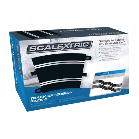 Scalextric Track Extension Pack 6 (8xC8204)