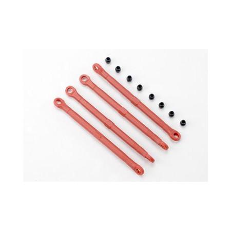 Toe-links plast röd 4st