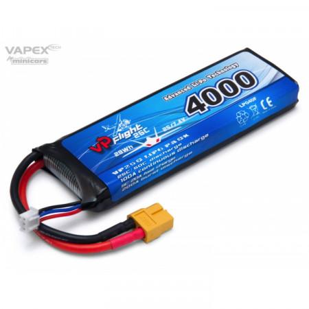 Vapex Li-Po Batteri 2S 7,4V 4000mAh 25C XT60-Kontakt