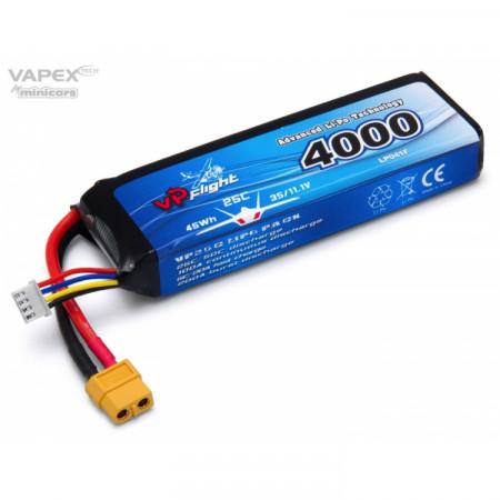 Vapex Li-Po Batteri 3S 11,1V 4000mAh 25C XT60-Kontakt