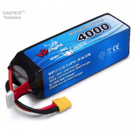 Vapex Li-Po Batteri 6S 22,2V 4000mAh 25C XT60-Kontakt