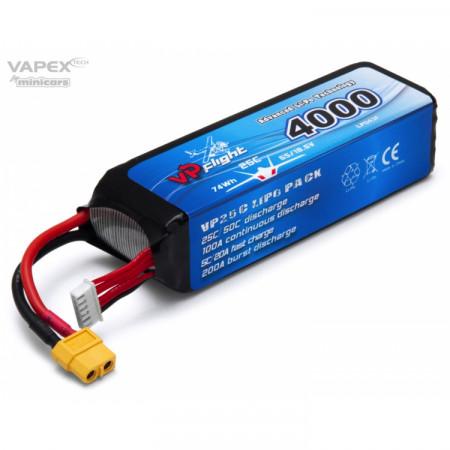 Vapex Li-Po Batteri 5S 18,5V 4000mAh 25C XT60-Kontakt