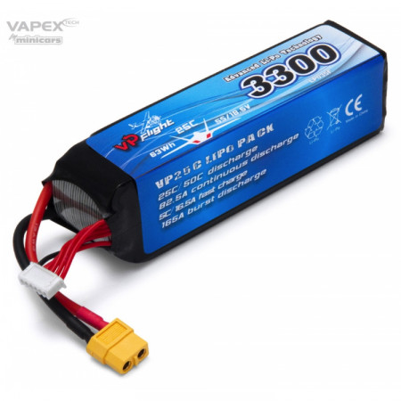 Vapex Li-Po Batteri 5S 18,5V 3300mAh 25C XT60-Kontakt