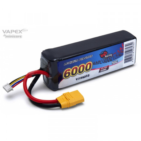 Vapex Li-Po Batteri 3S 11,1V 6000mAh 50C XT90-Kontakt