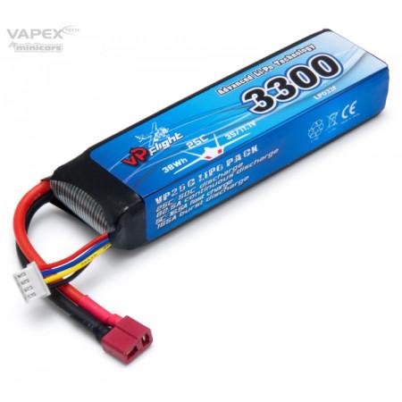 Vapex Li-Po Batteri 3S 11,1V 3300mAh 25C T-Kontakt