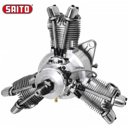 Saito FG-60R3 60cc 4-takts 3-cyl Stjärnmotor Bensin