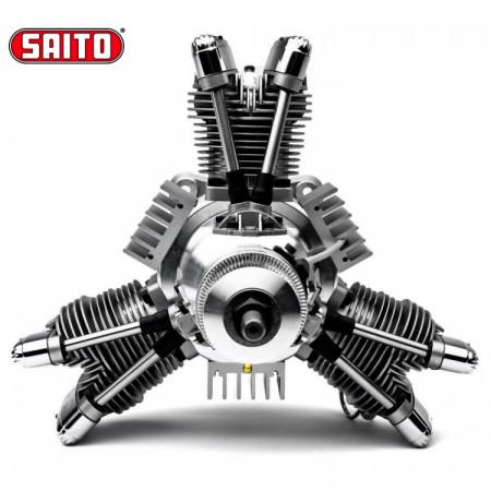 Saito FG-84R3 84cc 4-takts 3-cyl Stjärnmotor Bensin