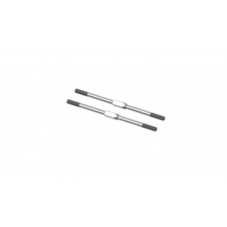 Steel Turnbuckle, M4x95mm Silver (2)