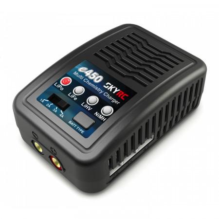 SkyRC e450 Laddare LiPo/LiFe/LiHV 2-4S,NiMH 6-8 50W 240VAC