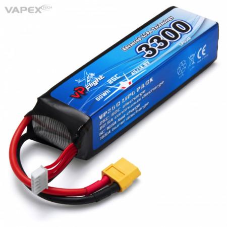 Vapex Li-Po Batteri 4S 14,8V 3300mAh 25C XT60-Kontakt
