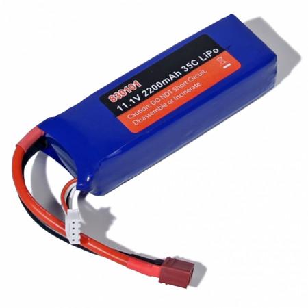 Li-Po Batteri 3S 11,1V 2200mAh 35C T-kontakt
