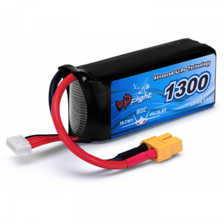 Vapex Li-Po Batteri 4S 14,8V 1300mAh 80C XT60-kontakt