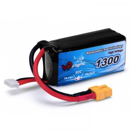 Vapex Li-Po Batteri 4S 15,2V (HV) 1300mAh 80C XT60-kontakt