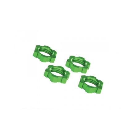 Hjulmutter 17mm Aluminium Grön (4)